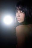 Mooie Europees-Aziatische vrouw Stock Afbeeldingen