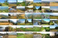 Mooie Europese landschapscollage stock fotografie