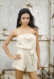 Mooie exotische jonge vrouw Stock Fotografie