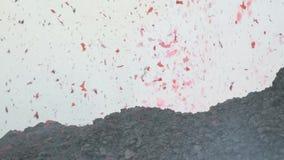 Mooie explosies van lava van Etna stock videobeelden