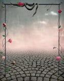 Mooie fairytaleachtergrond voor prentbriefkaaren vector illustratie