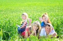 Mooie familie Royalty-vrije Stock Afbeelding