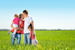Mooie familie stock foto's