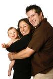 Mooie familie met binnenpretjes Stock Foto's