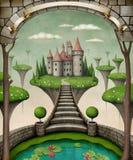 Het kasteel van Fairytale Royalty-vrije Stock Afbeeldingen