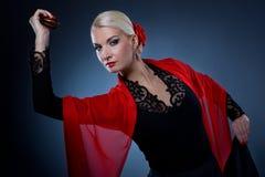 Mooie flamencodanser Royalty-vrije Stock Fotografie