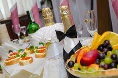 Mooie flessen wijn Royalty-vrije Stock Afbeeldingen