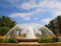 Mooie fontein voor het Grote Casino in Monte Carlo, Monaco stock foto