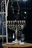 Mooie foto van Joodse Hupa, huwelijksputdoor hanukkah stock foto