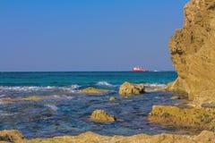 Mooie fotomiddellandse zee. Israël Royalty-vrije Stock Afbeeldingen