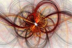 Mooie fractal abstracte lijnillustratie, Stock Foto's