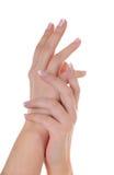 Mooie Franse manicure Stock Foto