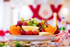 Mooie fruitplaat royalty-vrije stock afbeeldingen
