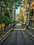 Mooie gang aan Thessaloniki Royalty-vrije Stock Fotografie
