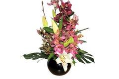 Mooie geïsoleerde boquet van gemengde bloemen Stock Afbeelding