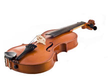 Mooie geïsoleerdew viool stock afbeeldingen