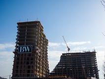 Mooie gebouwen blegrade waterkant Royalty-vrije Stock Afbeelding