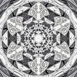 Mooie gebrandschilderd glascaleidoscoop in zwart-wit stock illustratie