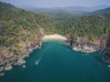 Mooie geheime strandvlinder Goa toeristische staat in India Stock Afbeelding
