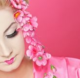 mooie geisha Royalty-vrije Stock Foto's