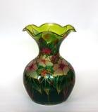 Mooie gekleurde glasvaas voor bloemen Stock Foto