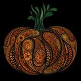 Mooie gekleurde vectorpompoenpatronen Halloween Stock Foto's