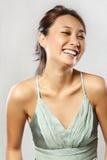 Mooie gelukkige Aziatische Vrouw Stock Foto's