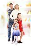Mooie gelukkige familie royalty-vrije stock afbeelding