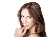 Mooie gelukkige glimlach Royalty-vrije Stock Foto's