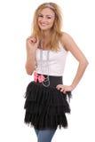 Mooie gelukkige jonge vrouw die tiara draagt Royalty-vrije Stock Fotografie