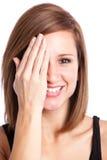 Mooie gelukkige vrouw Stock Afbeelding