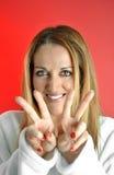 Mooie gelukkige vrouw Stock Foto's
