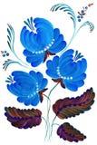 Mooie geschilderde heldere blauwe kleur Stock Foto's