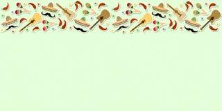 Mooie geweven achtergrond voor vakantiecinco DE Mayo bann royalty-vrije illustratie