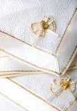 Mooie geweven de lijstdecoratie van stoffenservetten stock afbeelding