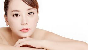 Mooie gezichten van Aziatische vrouwen stock afbeeldingen