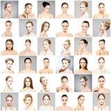 Mooie, gezonde en jonge vrouwelijke portretteninzameling royalty-vrije stock foto
