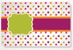 Mooie giftkaart Stock Fotografie