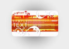 Mooie giftkaart, illustratie Royalty-vrije Stock Foto's