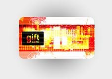 Mooie giftkaart, illustratie Stock Afbeelding