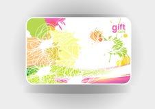 Mooie giftkaart, illustratie Royalty-vrije Stock Afbeelding
