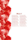 Mooie giftkaart met rode hibiscuses royalty-vrije stock foto