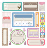 Mooie giftmarkering & sticker Stock Foto
