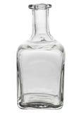 Mooie glasfles met gebogen randen Royalty-vrije Stock Foto