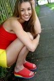Mooie glimlach 1-5 Stock Foto