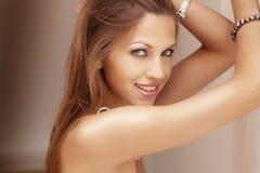 Mooie Glimlach Stock Foto