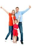 Mooie glimlachende familie Stock Foto's