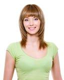 Mooie glimlachende jonge vrouw Stock Afbeeldingen