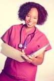 Mooie glimlachende verpleegster stock foto's