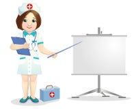 Mooie glimlachende verpleegster Royalty-vrije Stock Afbeeldingen